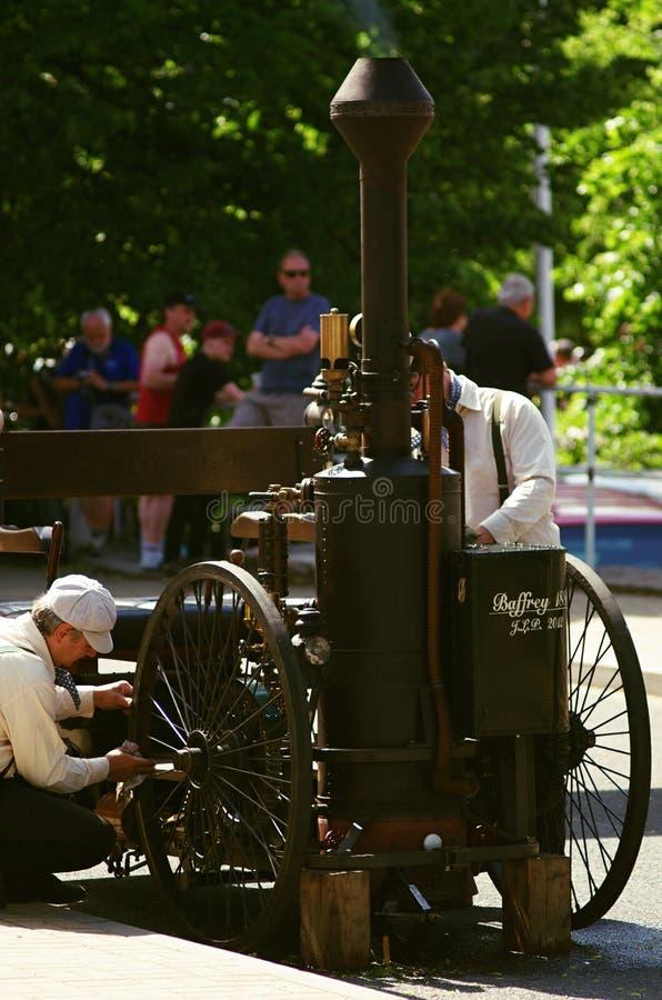 Voiture 1886 de vapeur de Baffrey photos stock