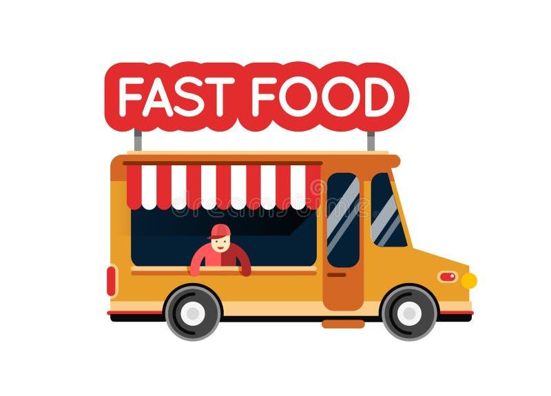 Voiture de ville de camion d 39 aliments de pr paration for Piscine mobile sur camion