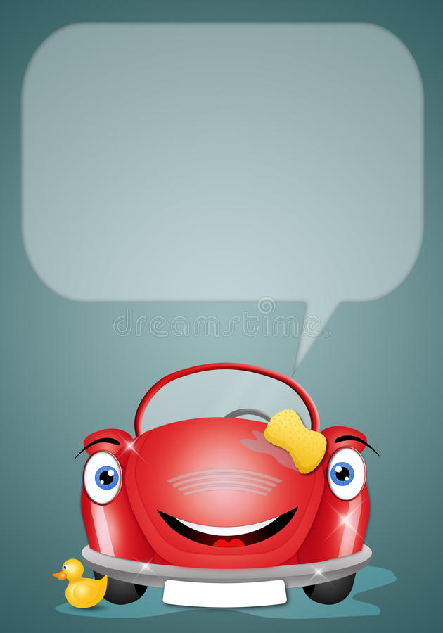 Voiture dr le au lavage de voiture illustration stock - Image voiture drole ...