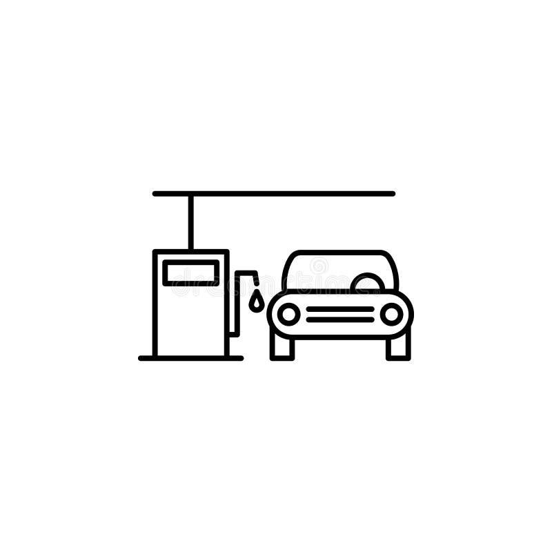 Voiture, gaz, icône d'ensemble de station Peut être employé pour le Web, logo, l'appli mobile, UI, UX illustration stock