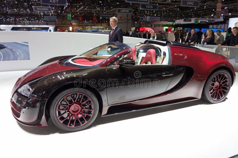Voiture grande de finale de La de Vitesse de sport de Bugatti Veyron images stock