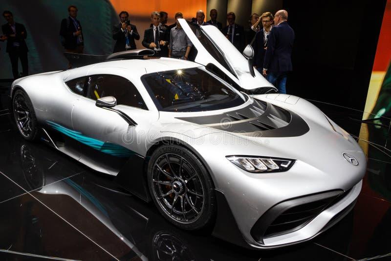 Voiture 2017 hyper du projet un de Mercedes-AMG images libres de droits