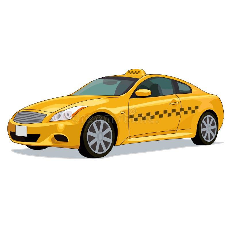 voiture jaune de taxi illustration de vecteur illustration du occup 40393025. Black Bedroom Furniture Sets. Home Design Ideas