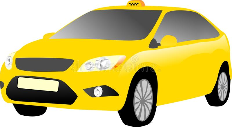 Voiture jaune de taxi photos stock