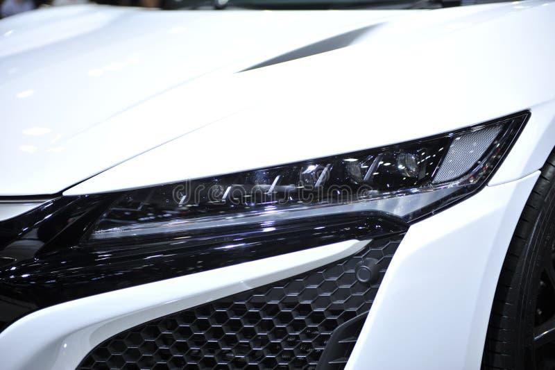 voiture menée de lampe des véhicules à moteur images stock
