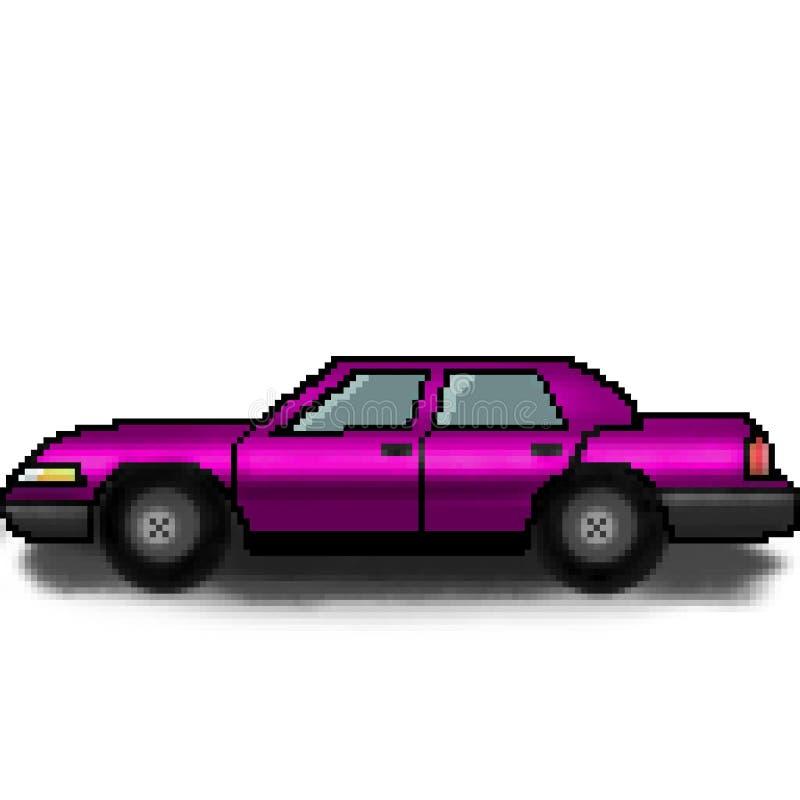 Voiture multicolore de passager tiré de bit du pixel 8 illustration libre de droits