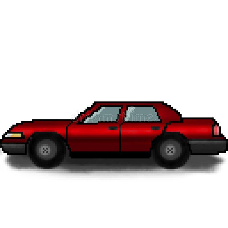 Voiture multicolore de passager tiré de bit du pixel 8 illustration de vecteur