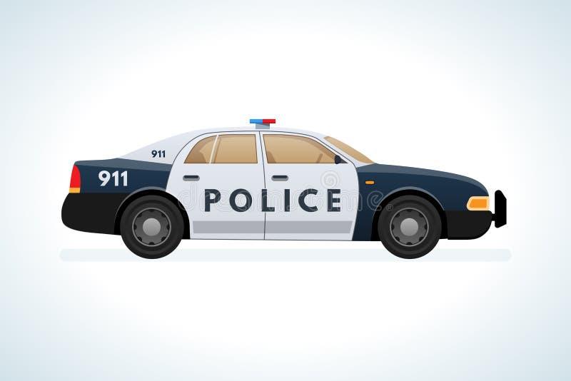 Voiture, voiture, police Aide, ordre, combat contre des criminels, violateurs illustration libre de droits