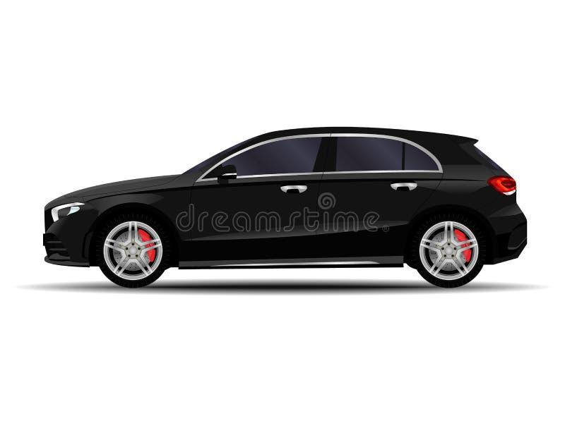 Voiture réaliste hatchback illustration de vecteur