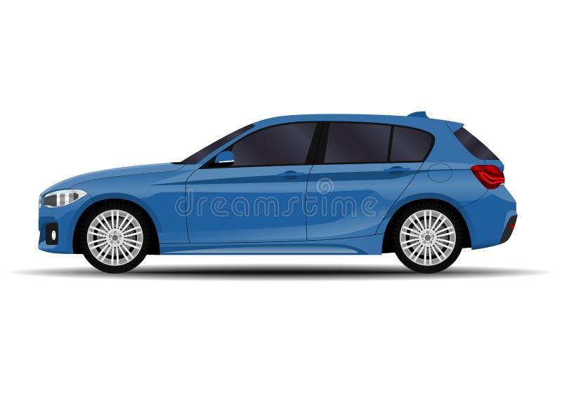 Voiture réaliste hatchback illustration stock