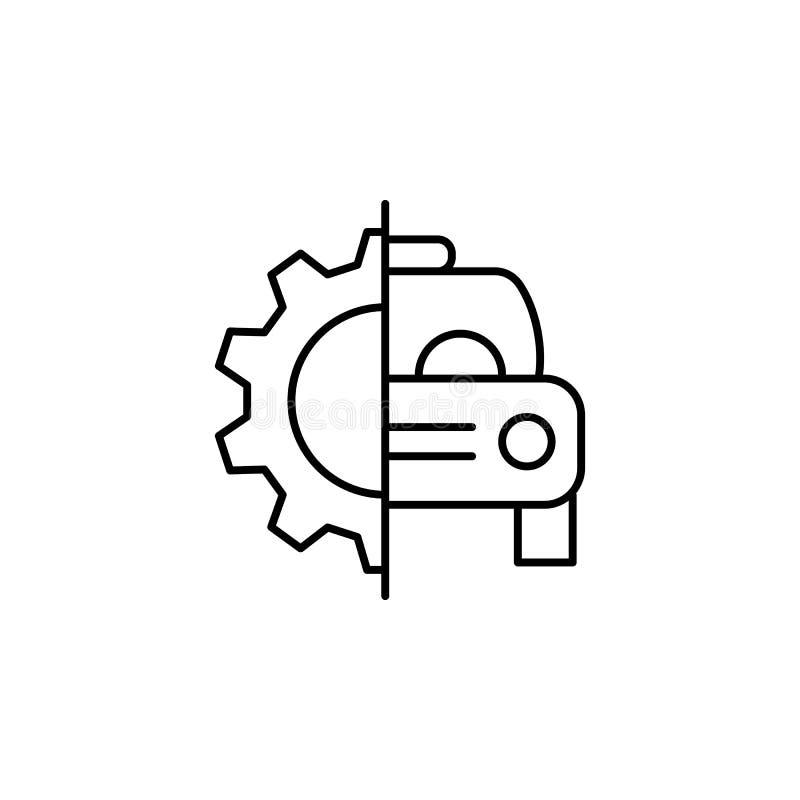 Voiture, réparation, icône d'ensemble de vitesse Peut être employé pour le Web, logo, l'appli mobile, UI, UX illustration libre de droits