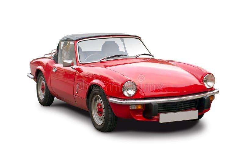 Voiture rouge classique de roadster de Triumph photographie stock