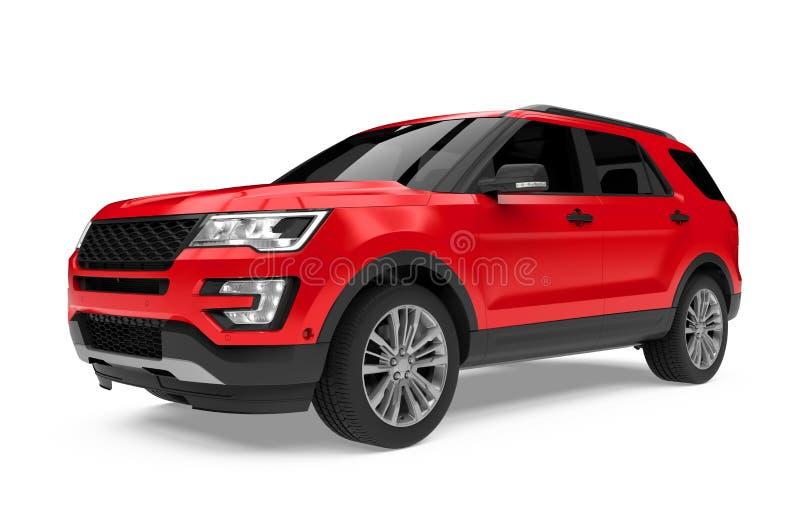 Voiture rouge de SUV d'isolement illustration stock