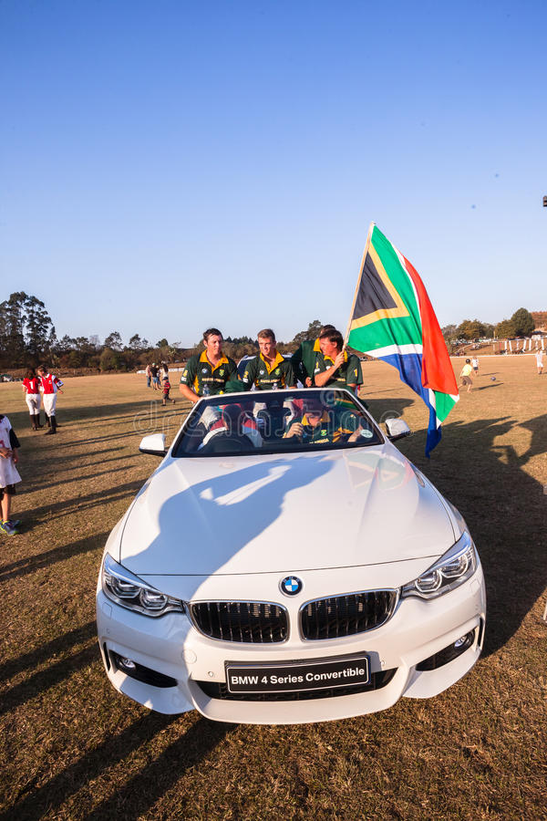 Voiture Shongweni Hillcrest de Polo South Africa Players Sponsor image stock