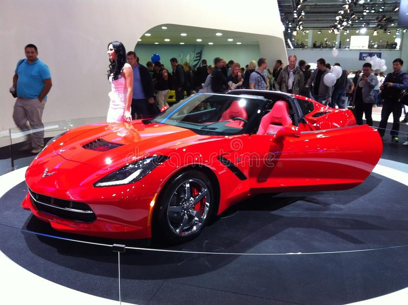 Voiture superbe, Corvette photo stock