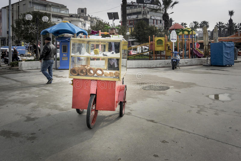 Voiture turque de bagel photographie stock