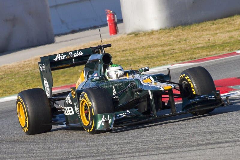 Voiture verte de Formule 1 image libre de droits