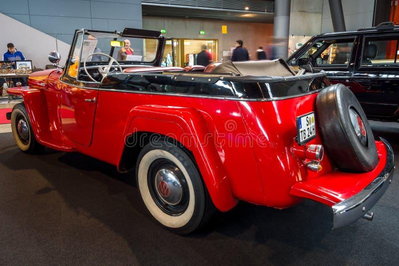 Voiture Willys-Overland Jeepster, 1949 de vintage images libres de droits