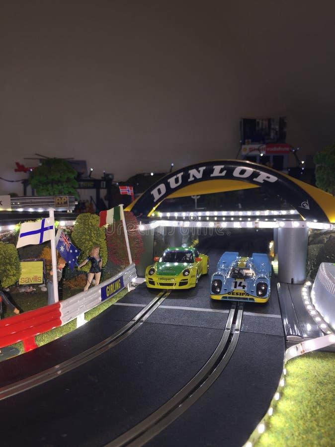 Voitures de course miniature photographie stock