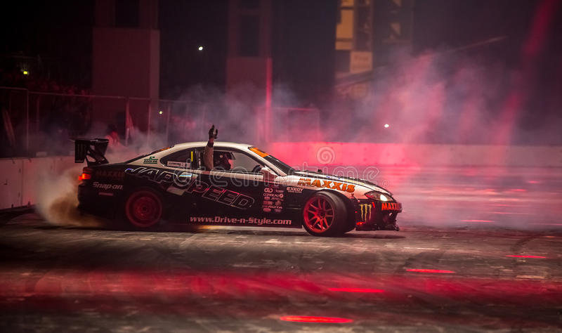 Voitures de dérive de Japspeed, International 2016 d'Autosport images libres de droits