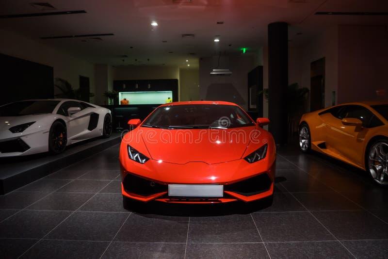 Voitures de Lamborghini à vendre photos libres de droits