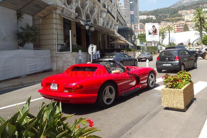 Voitures de luxe à Monte Carlo, Monaco images libres de droits