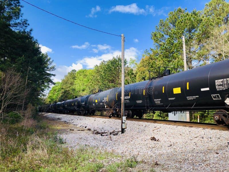Voitures locomotives de bateau-citerne image stock