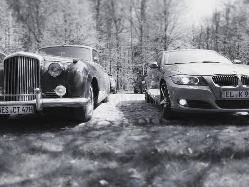 Voitures Photographie d'oldtimer de bentley de BMW photo libre de droits