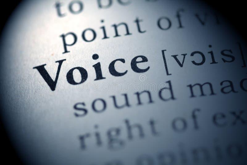 Voix photo stock