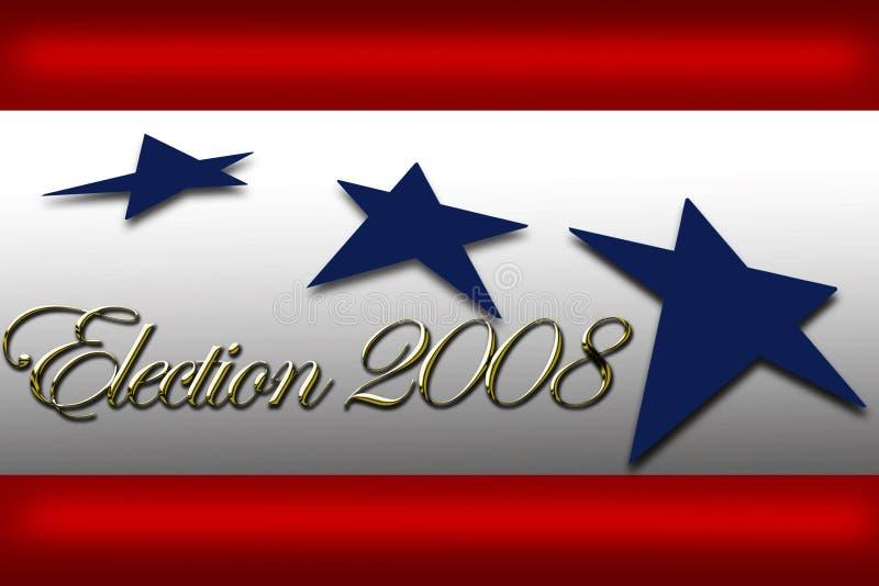 Voix de campagne de drapeau de jour d'élection illustration de vecteur