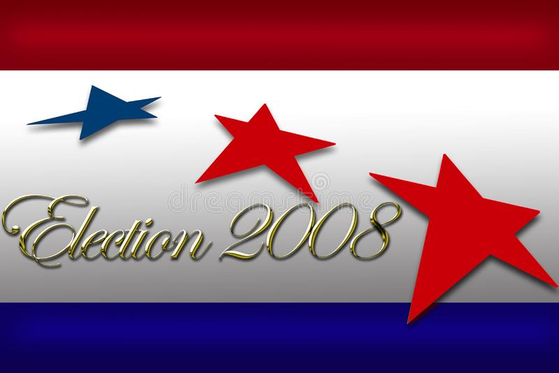 Voix de campagne de drapeau de jour d'élection illustration stock