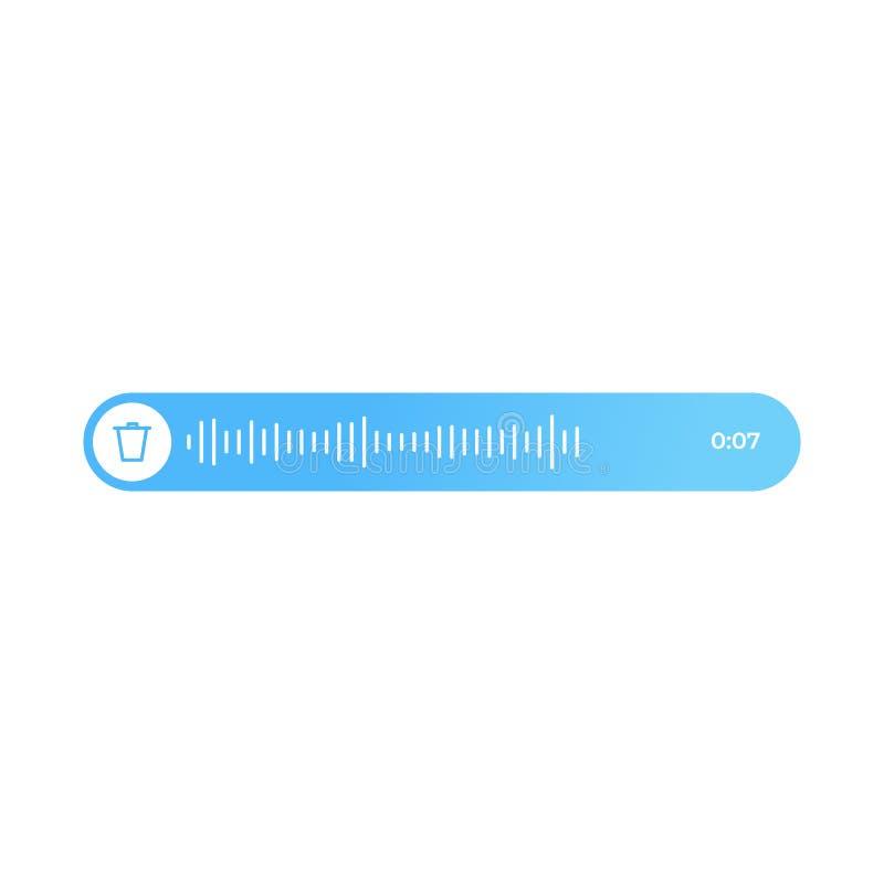 Voix et message audio Ui moderne de communication dans le messager illustration stock