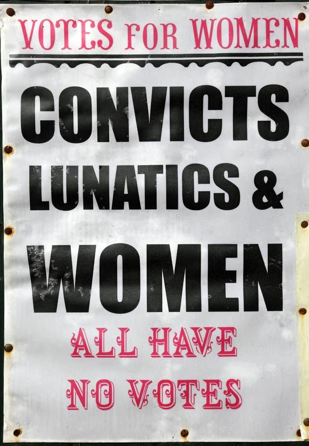Voix pour des femmes photos stock