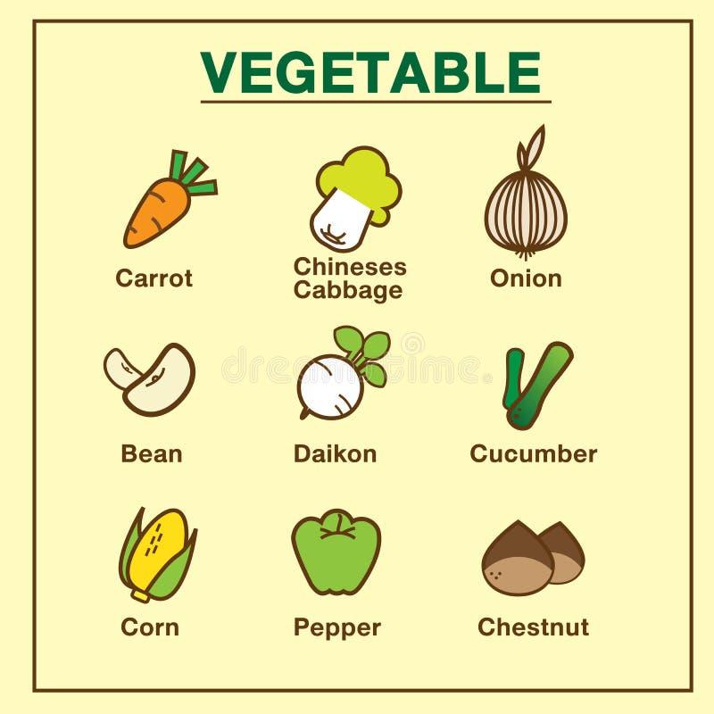 VOL. овоща установленный 1 стоковое изображение