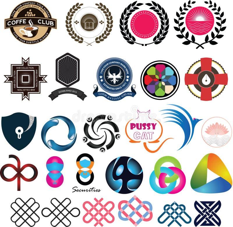 VOL. 01 логотипа установленный бесплатная иллюстрация
