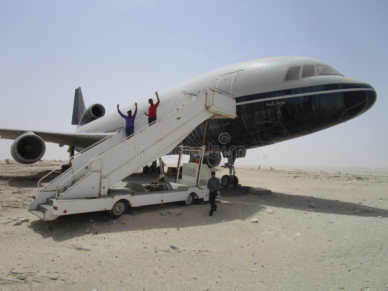 Vol au désert, photo stock