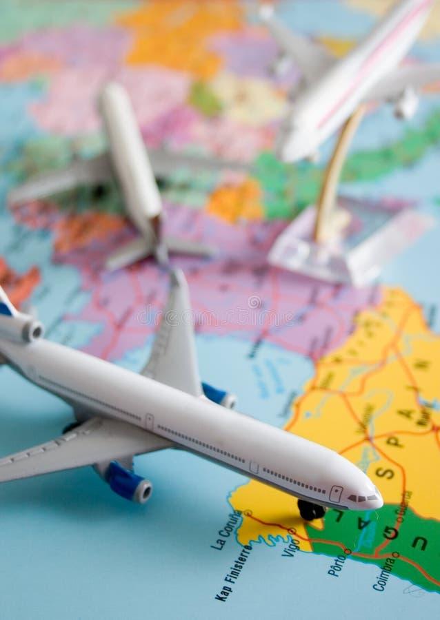 Vol autour du monde photos stock