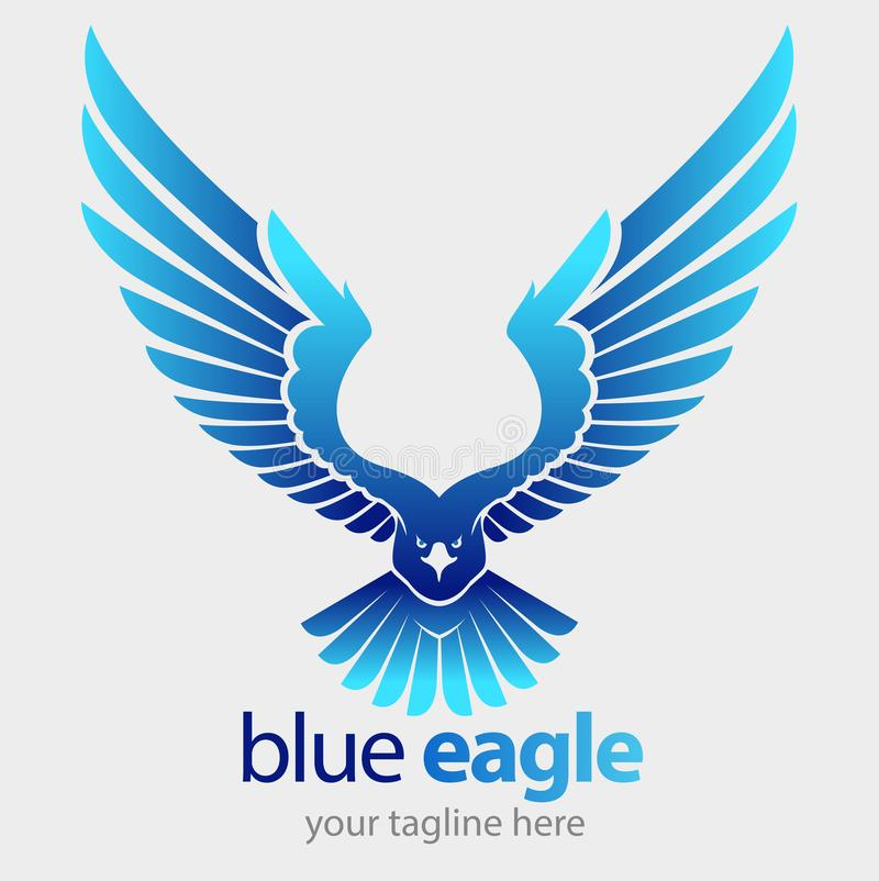 Vol bleu d'aigle illustration stock