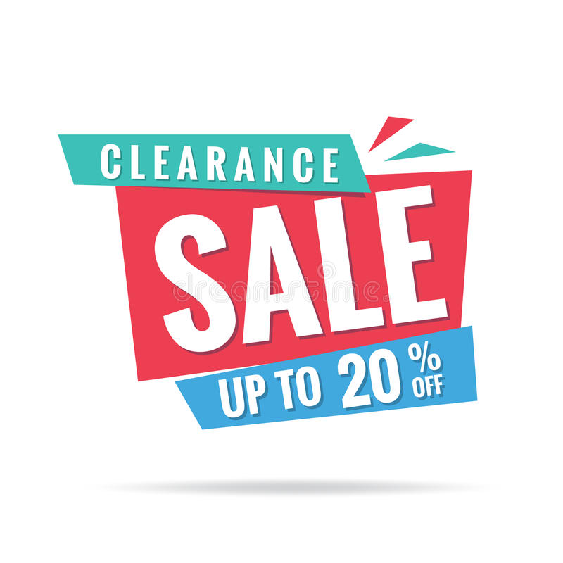 Vol. 3 Clearance Sale blue green red 20 percent heading design f. Or banner or poster. Sale and Discounts Concept. Vector illustration vector illustration