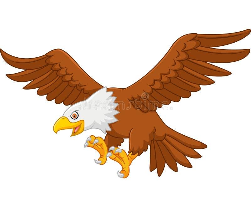 Vol d'aigle de bande dessinée illustration libre de droits