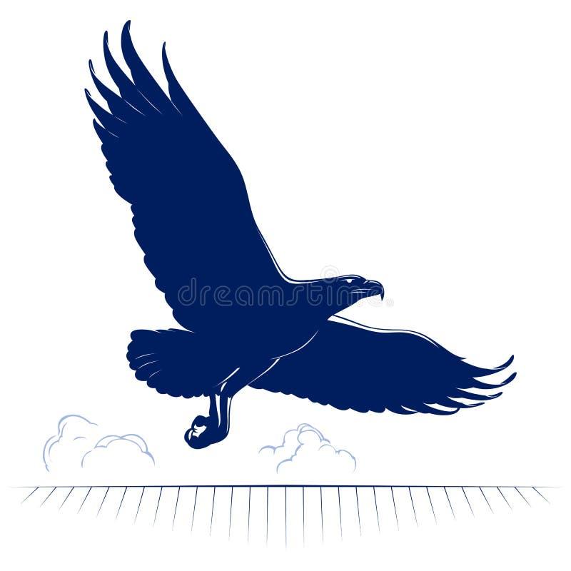 Vol d'aigle de dessin animé illustration stock