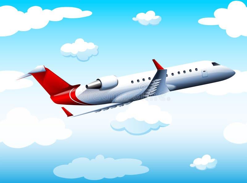 Vol d'Airplay dans le ciel à la journée illustration libre de droits