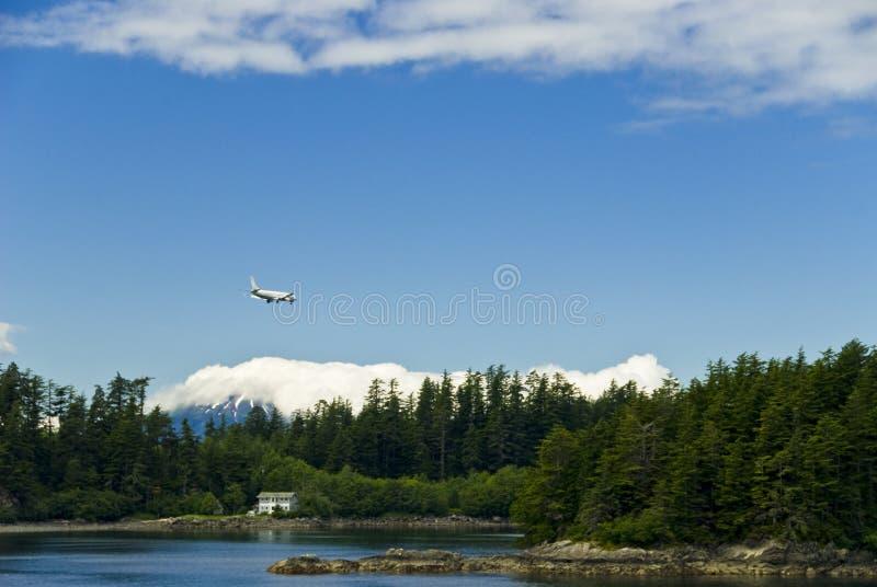Vol d'avion au-dessus de l'Alaska photographie stock libre de droits