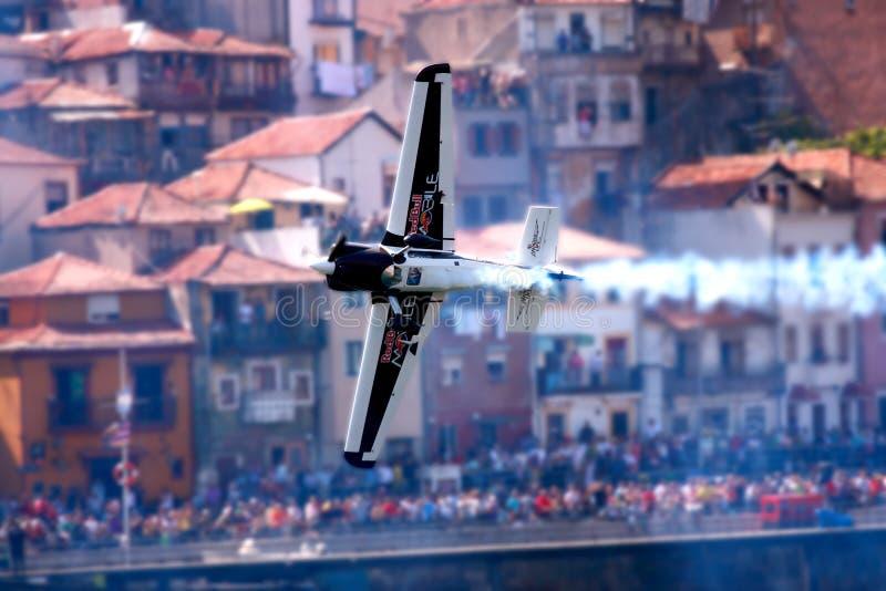 Vol d'avion - chemin Porto 2009 d'air de RedBull photos libres de droits