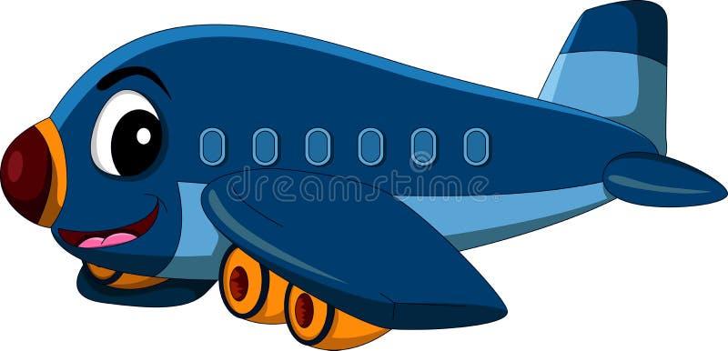 Vol d'avion de bande dessinée illustration libre de droits