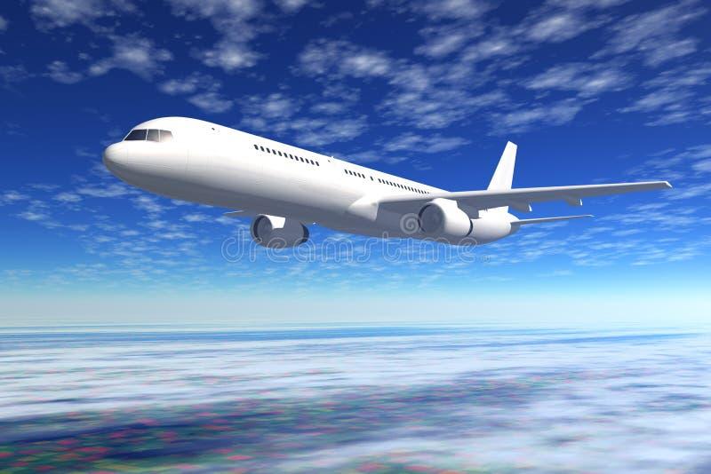 Vol d'avion de ligne de passager illustration libre de droits