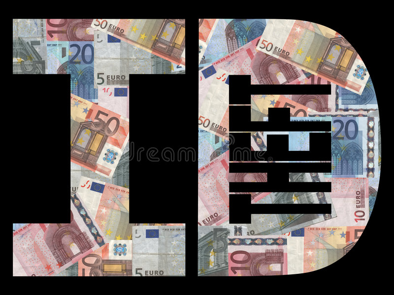 Vol d'identité avec des euro illustration libre de droits