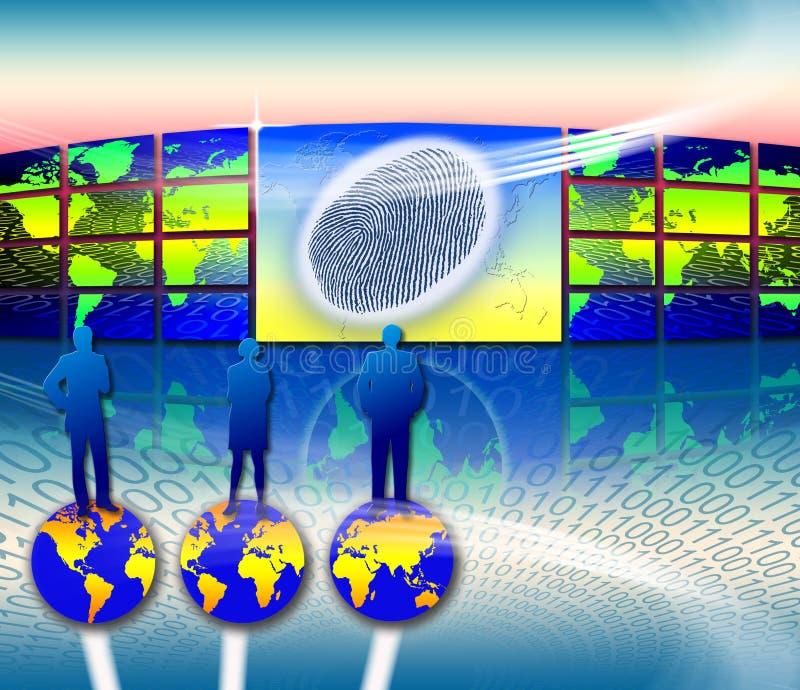 Vol d'identité biométrique illustration de vecteur