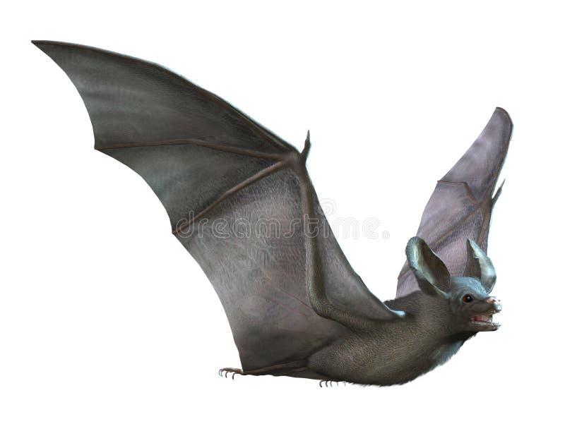 Vol de 'bat' sur le blanc illustration stock