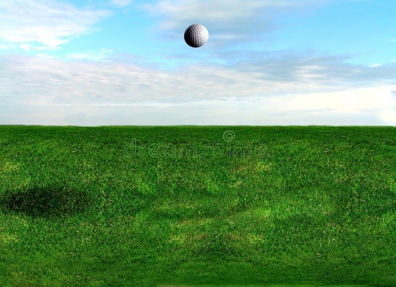 Vol de bille de golf photo libre de droits
